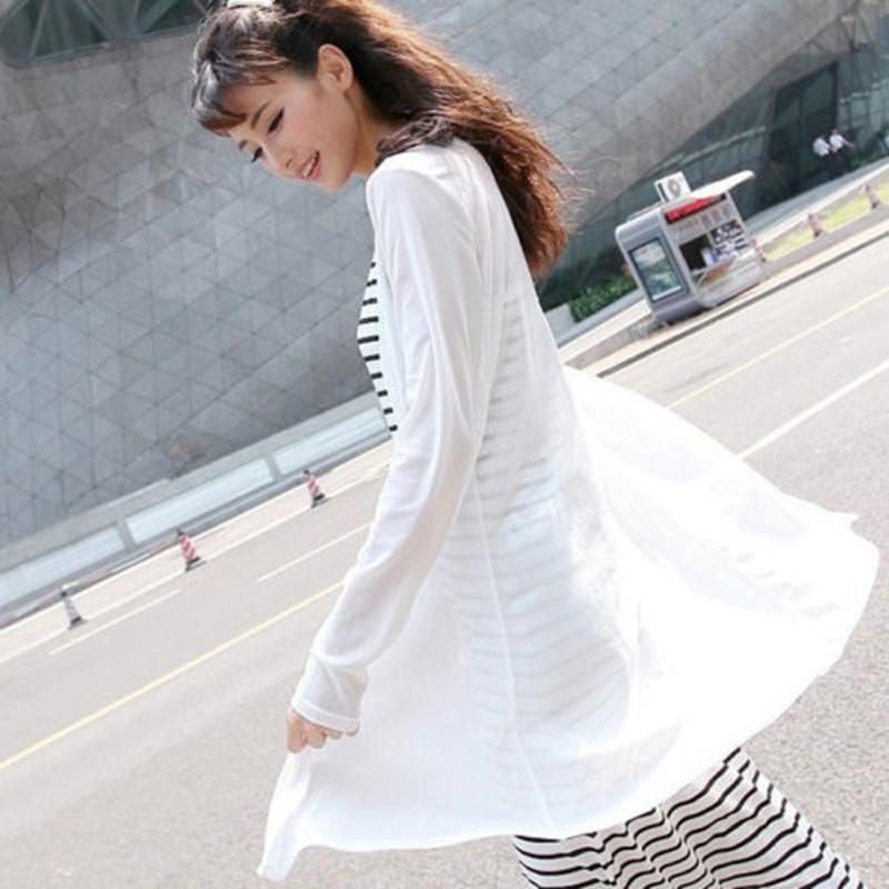 7ab42adb76639 UK STOCK Womens Mesh Sheer Long Sleeve Casual Slim Tops Cardigan Suncreen  Plus