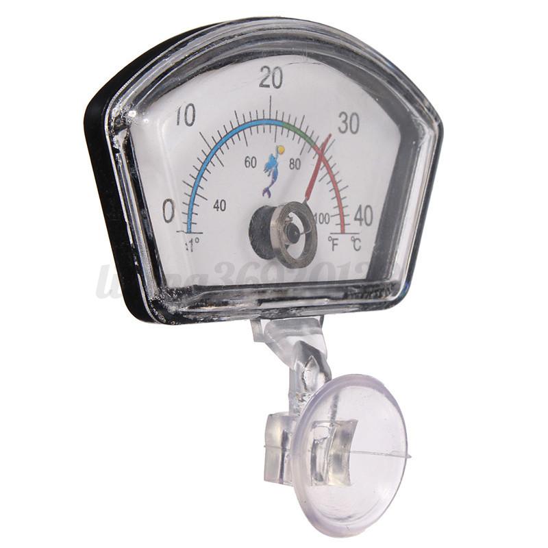 Eau Détecteur Thermomètre en Verre Ventouse Précise 0 a 40° Pr Aquarium POISSON