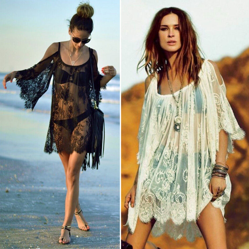 Image Is Loading Womens Summer See Through Lace Tank Tops Beach
