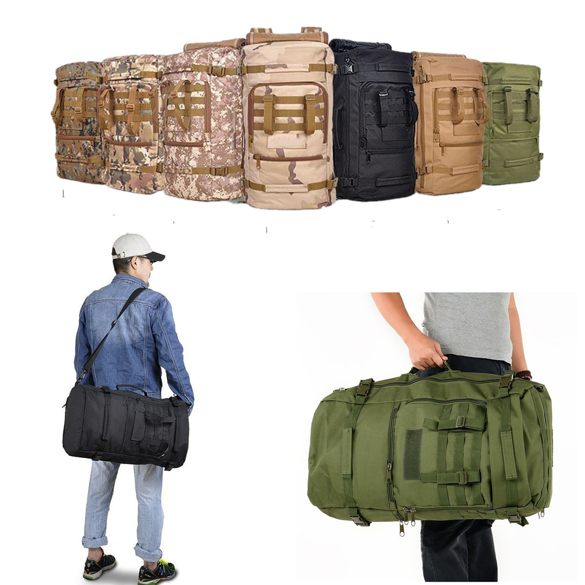 multifonction 60l arm e sac dos tactique militaire camping randonn e trekking ebay. Black Bedroom Furniture Sets. Home Design Ideas