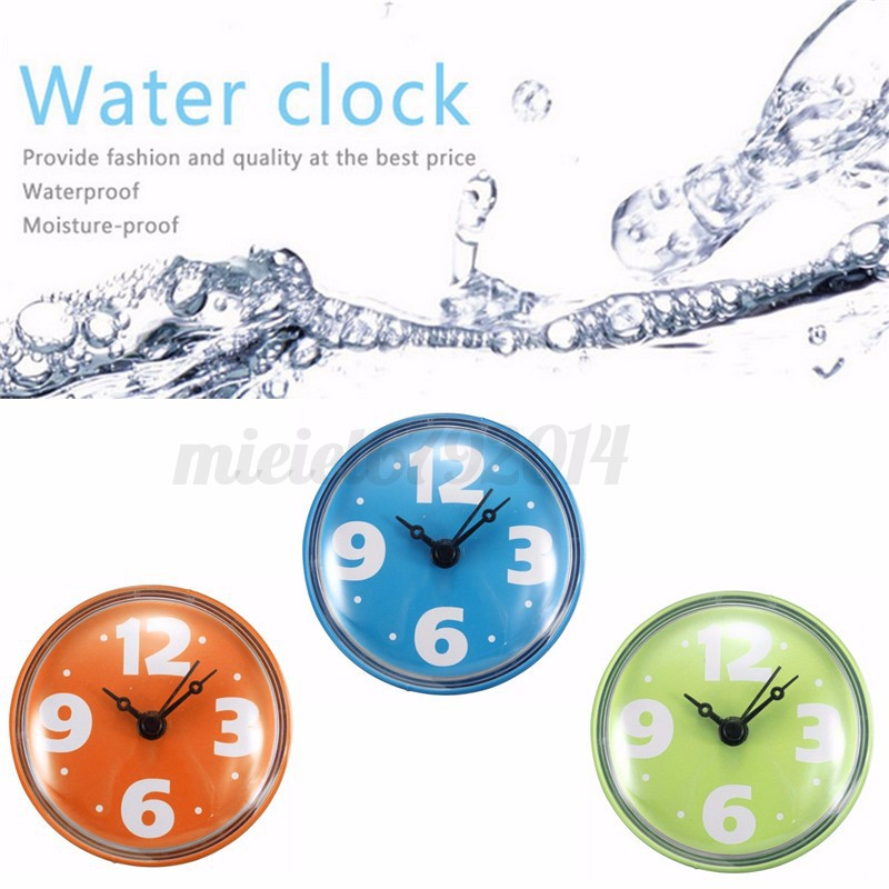 Image Is Loading Bathroom Waterproof Clock Wall Bath Shower Watch Mirror