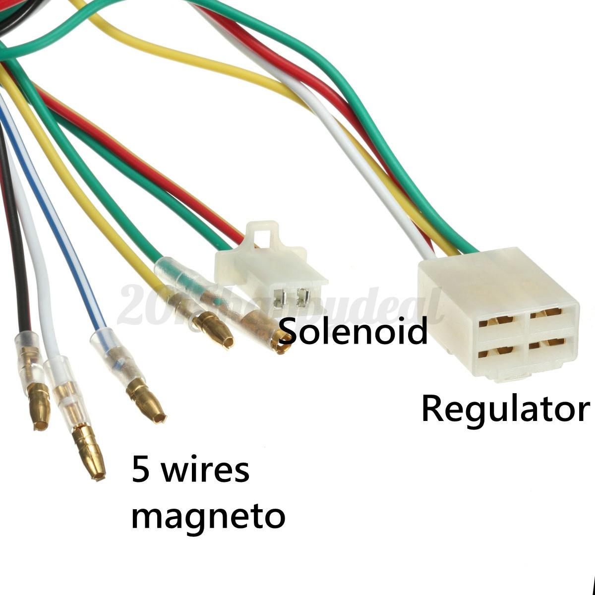 engine wiring harness wire loom pit bike atv quads 50cc 70cc 90cc detail image