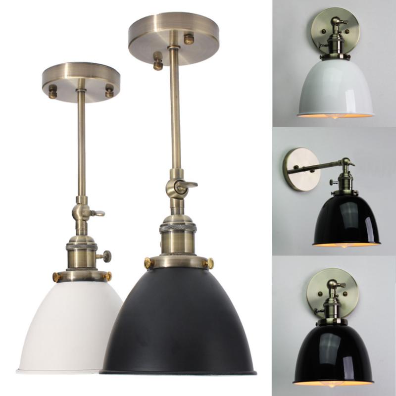 E27 Vintage Bowl Abat-jour Applique Lampe Loft Murale Spot Edison ...