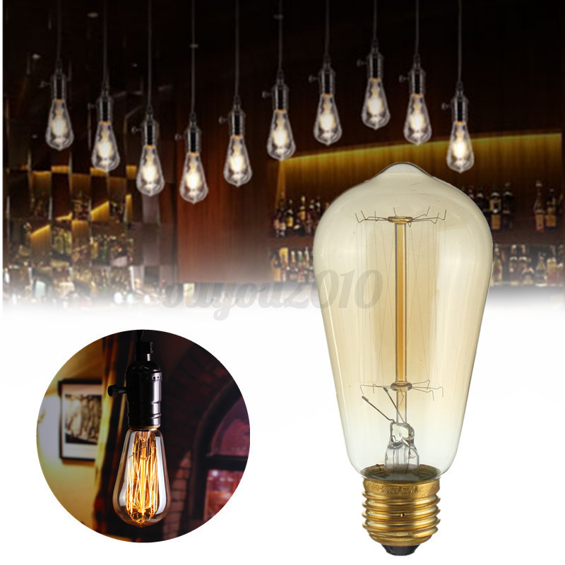 e27 vintage plat abat jour applique lampe loft murale spot edison bulb ampoule ebay. Black Bedroom Furniture Sets. Home Design Ideas