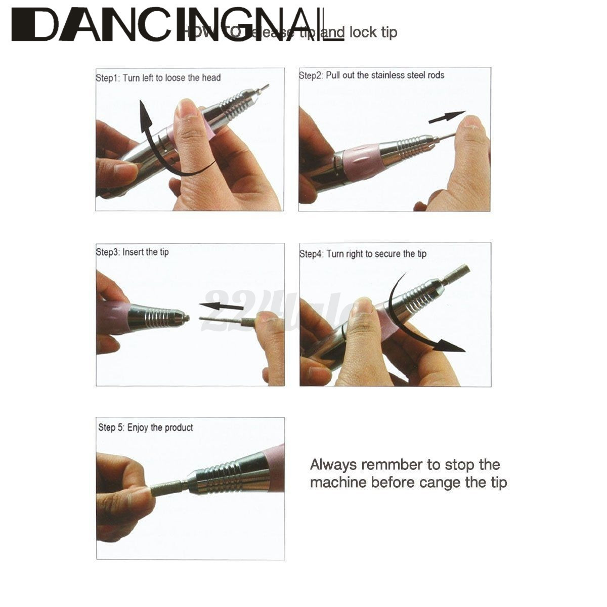 kiss electric nail file instructions