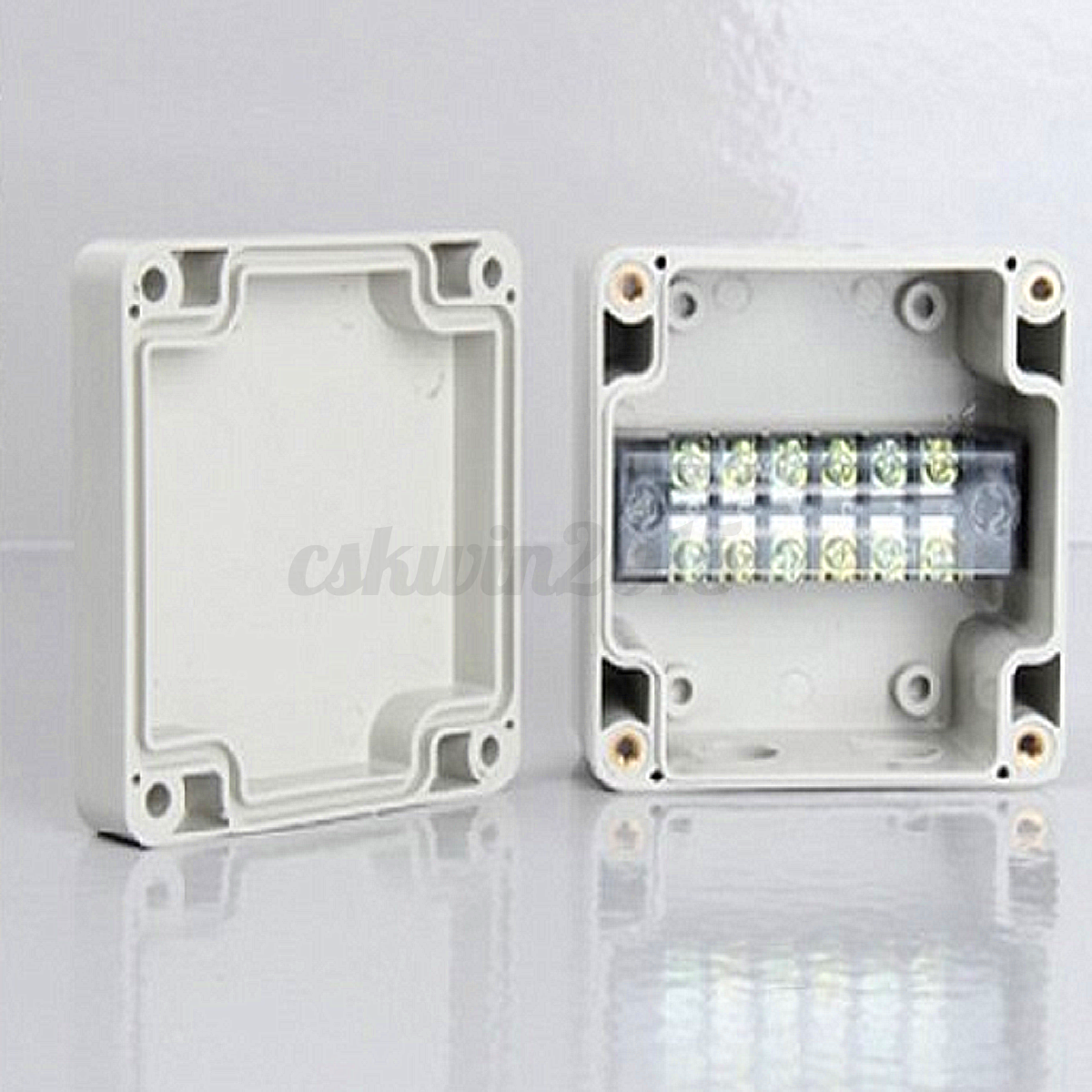 Waterproof Enclosure Case Electrical Junction Box Pg9 Terminal Outdoor Cable Box Ebay