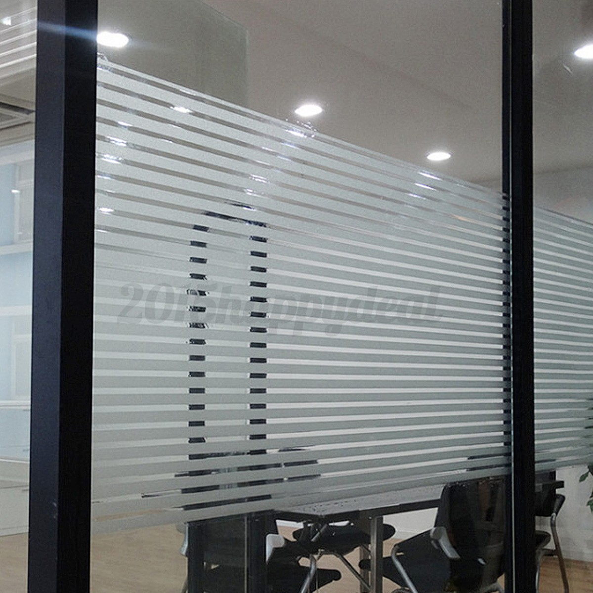 45x200cm Window Film Striped Shutters Sticker For Home