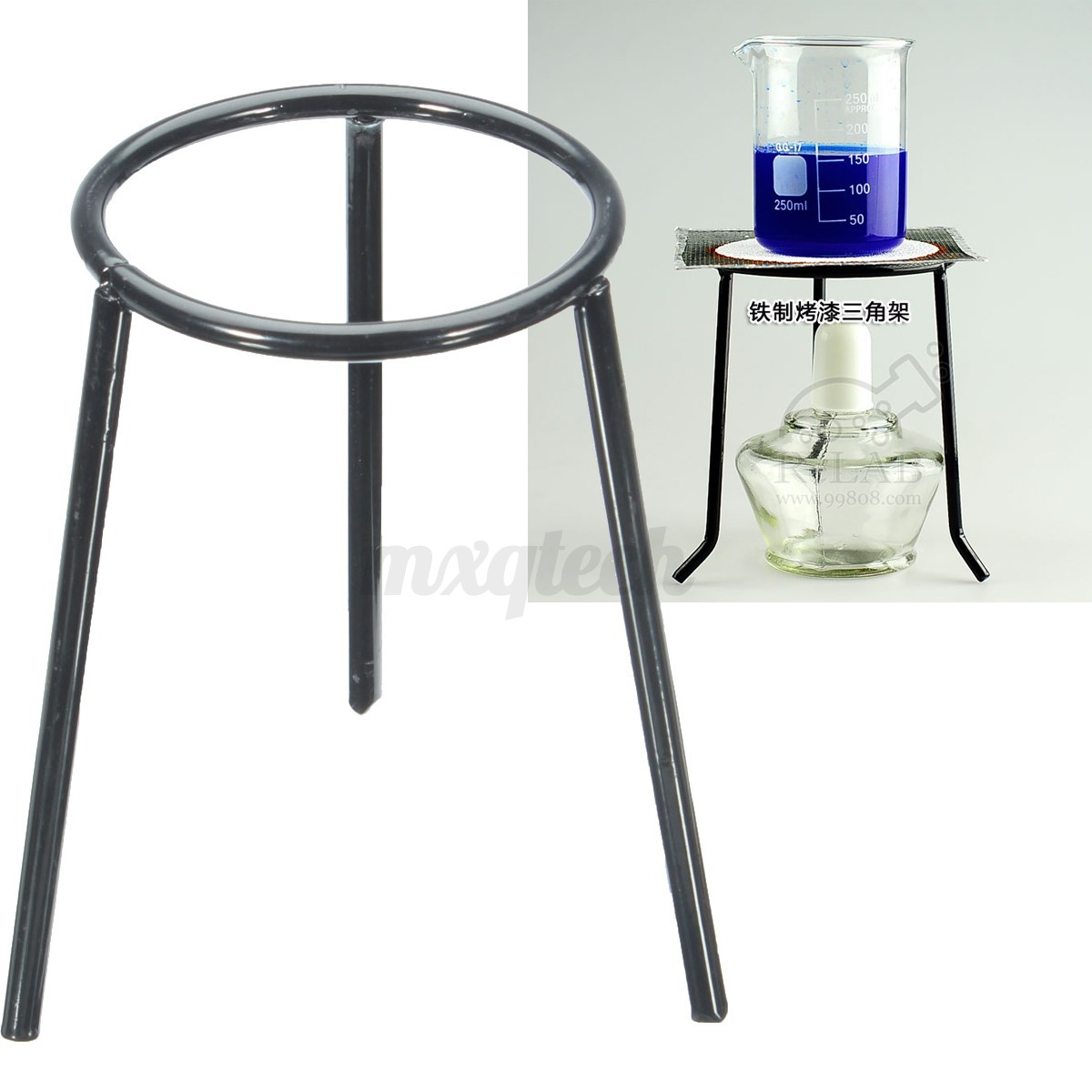 Lab Bunsen Burner/Cast Iron Support Stand/Alcohol Lamp ...