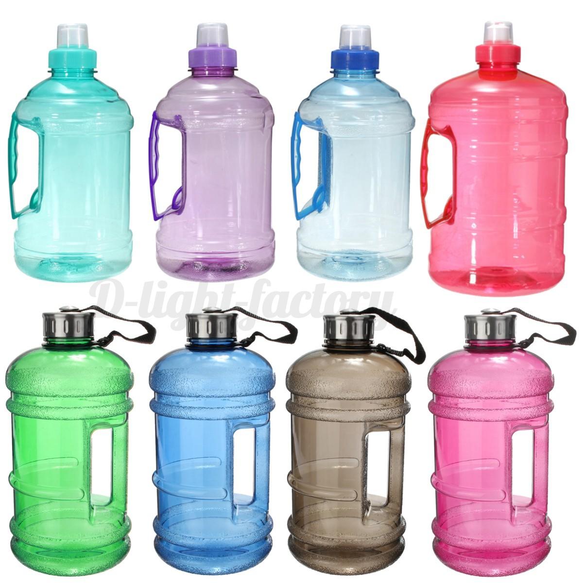 2.2L Large Water Bottle Cap Big Drink Kettle BPA Sport Training Workout Gym YE