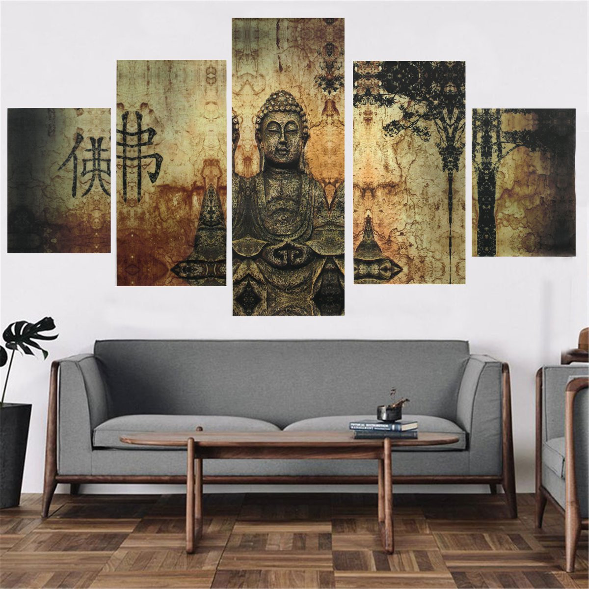 Graceful Modern Abstract Canvas Painting Print Oil Picture