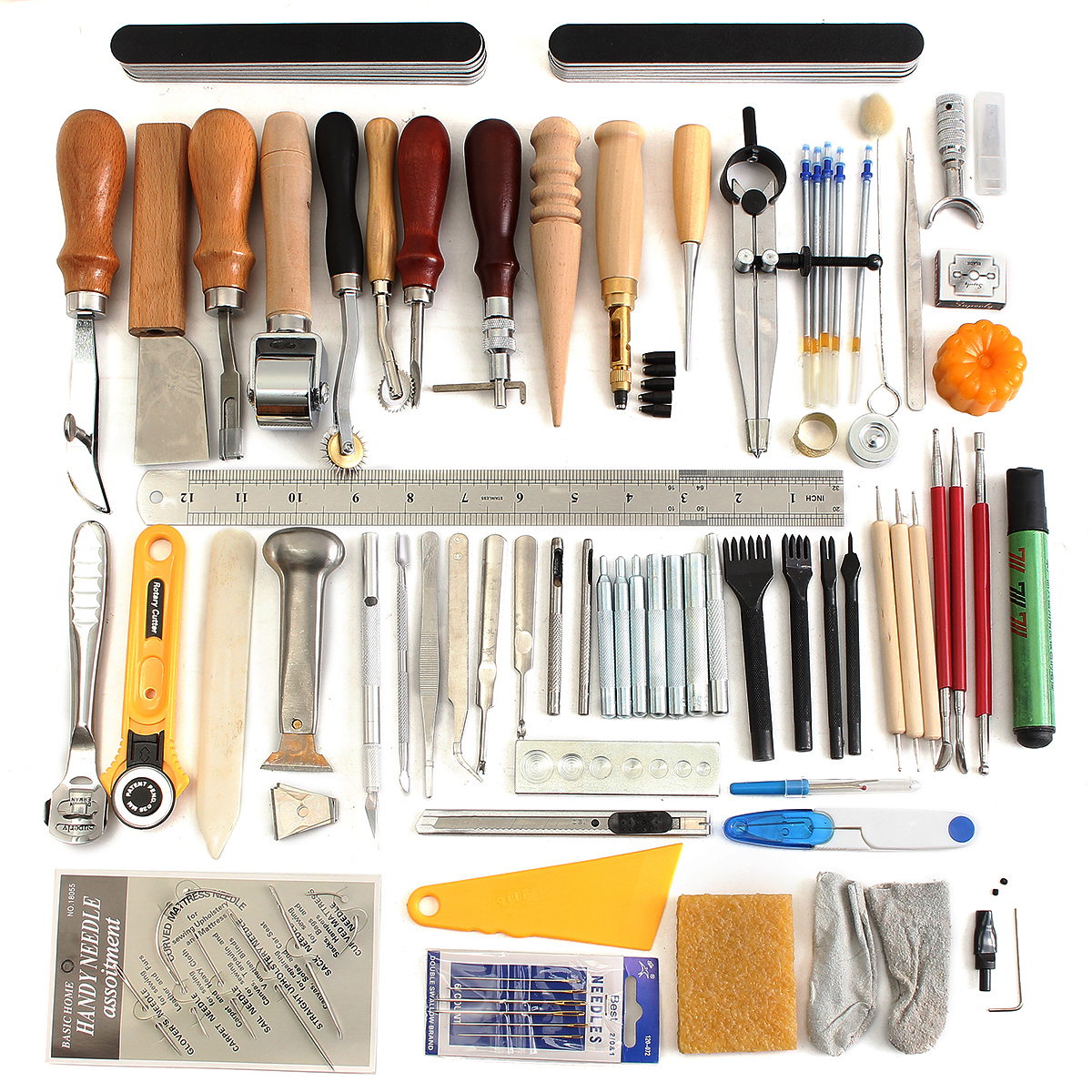 Leather craft tools punch kit stitching carving working
