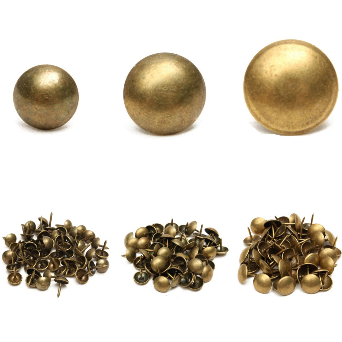 Image Is Loading 50 100pcs Antique Upholstery Tacks Brass Nails Furniture