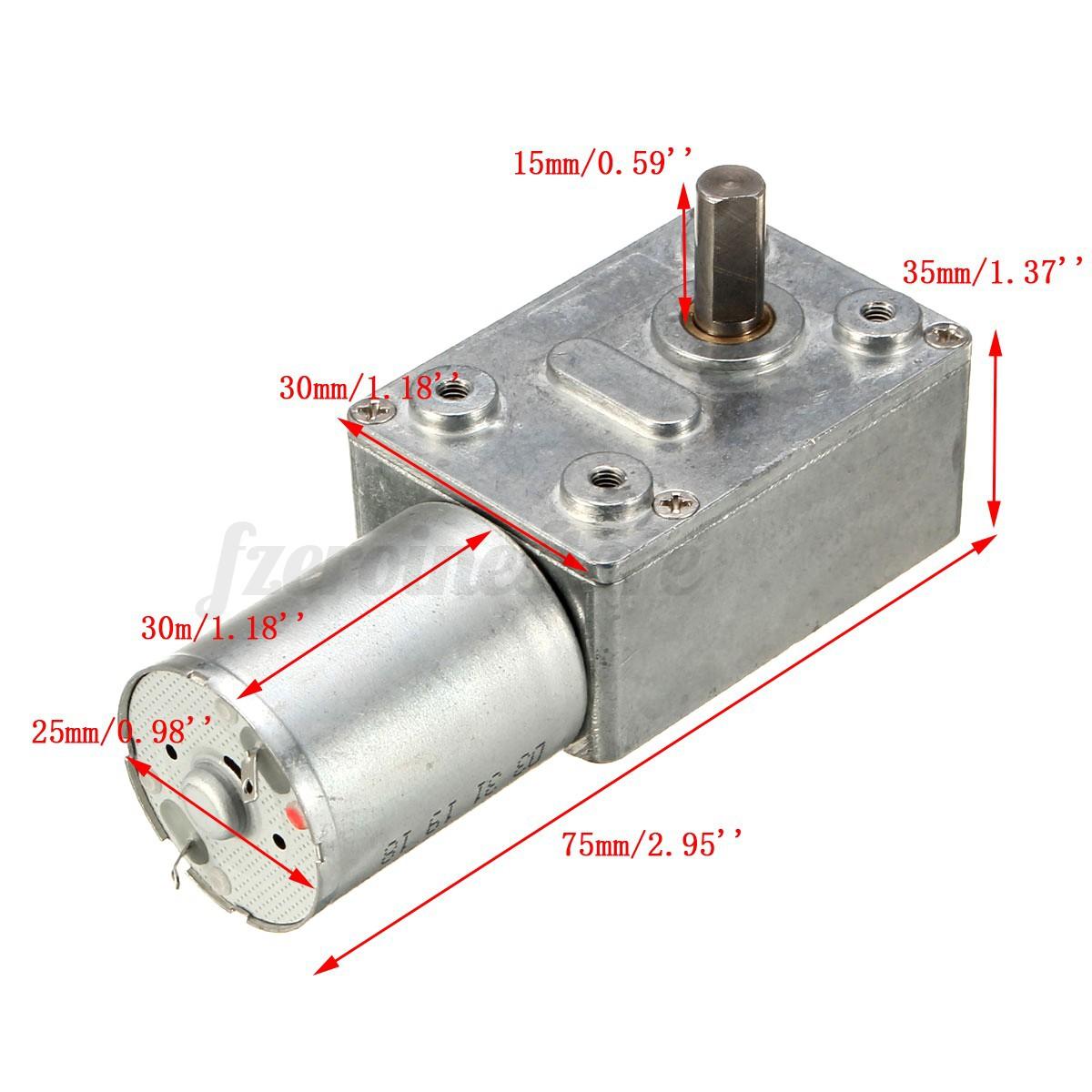 High Torque Electric Power Turbo Worm Geared Motor Dc