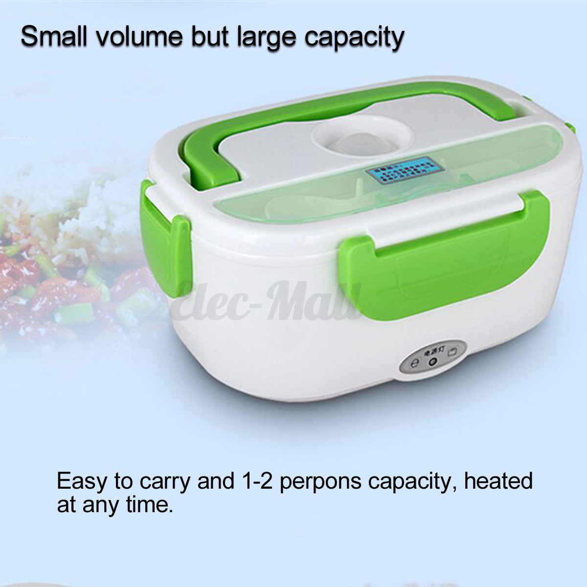 12v portable electric heated car plug heating lunch box bento travel food warmer ebay. Black Bedroom Furniture Sets. Home Design Ideas