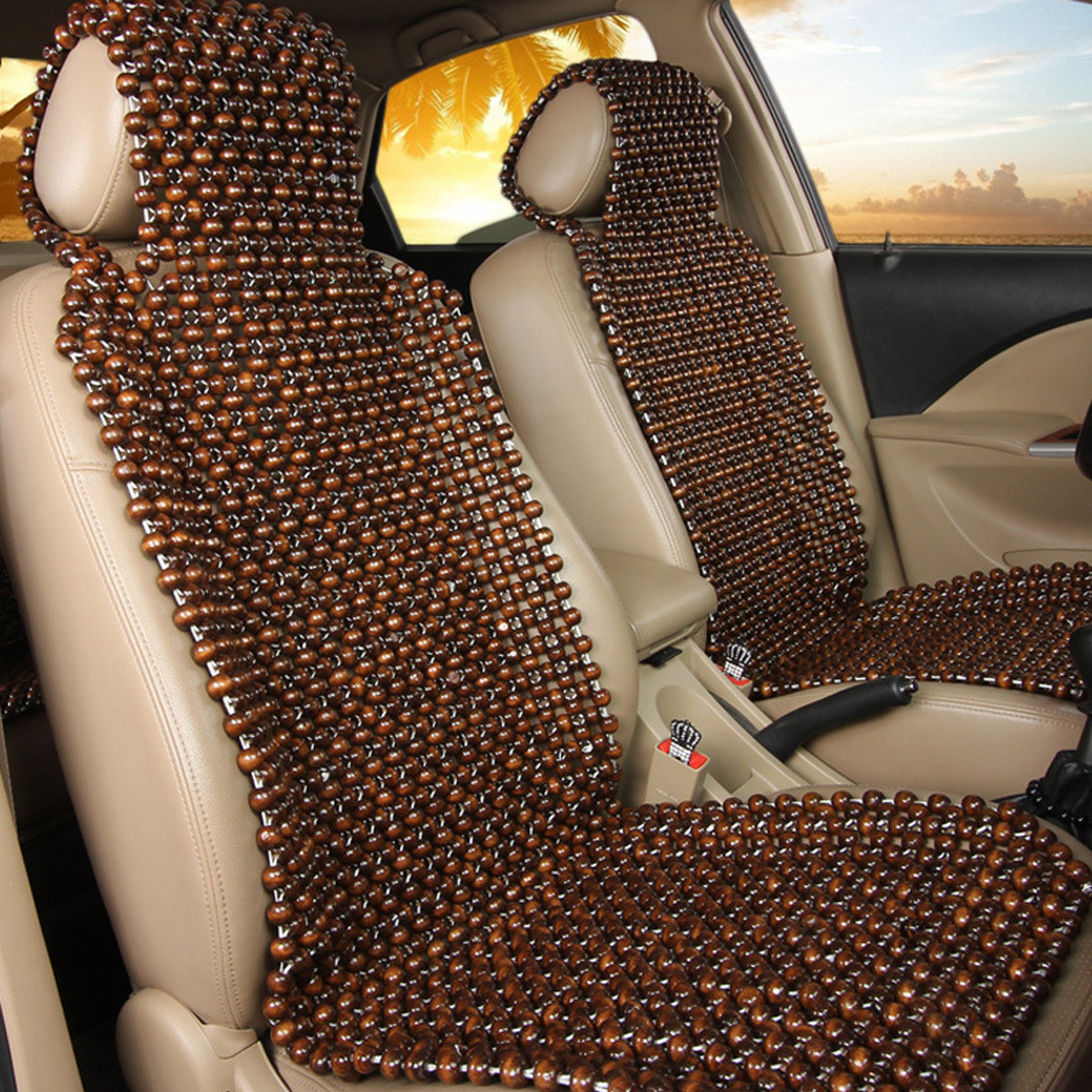 Wood Wooden BEAD CAR VAN TAXI FRONT Comfortable Seat Cover Massage