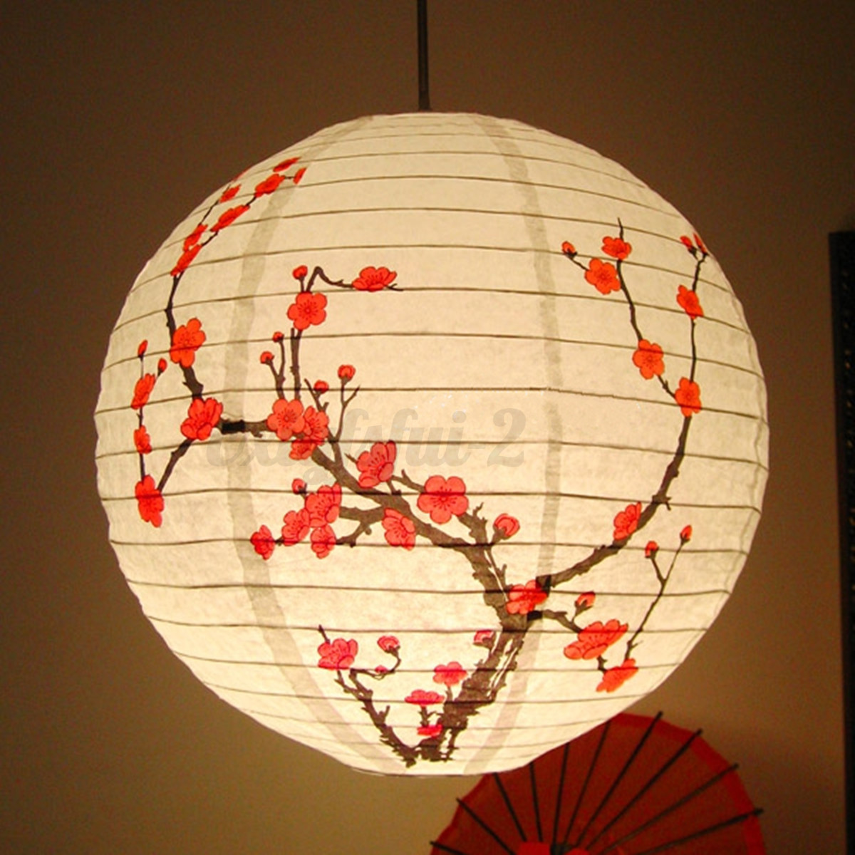 14 Plum Blossom Paper Lantern Lamp Light Shade Oriental Chinese Anese Decor