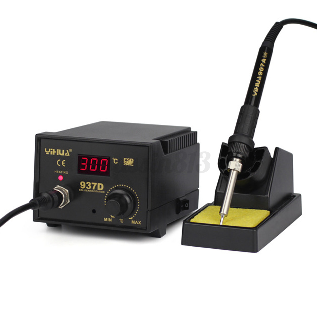 937d 220v solder soldering iron station welding smd tool stand esd er gadgets ebay. Black Bedroom Furniture Sets. Home Design Ideas
