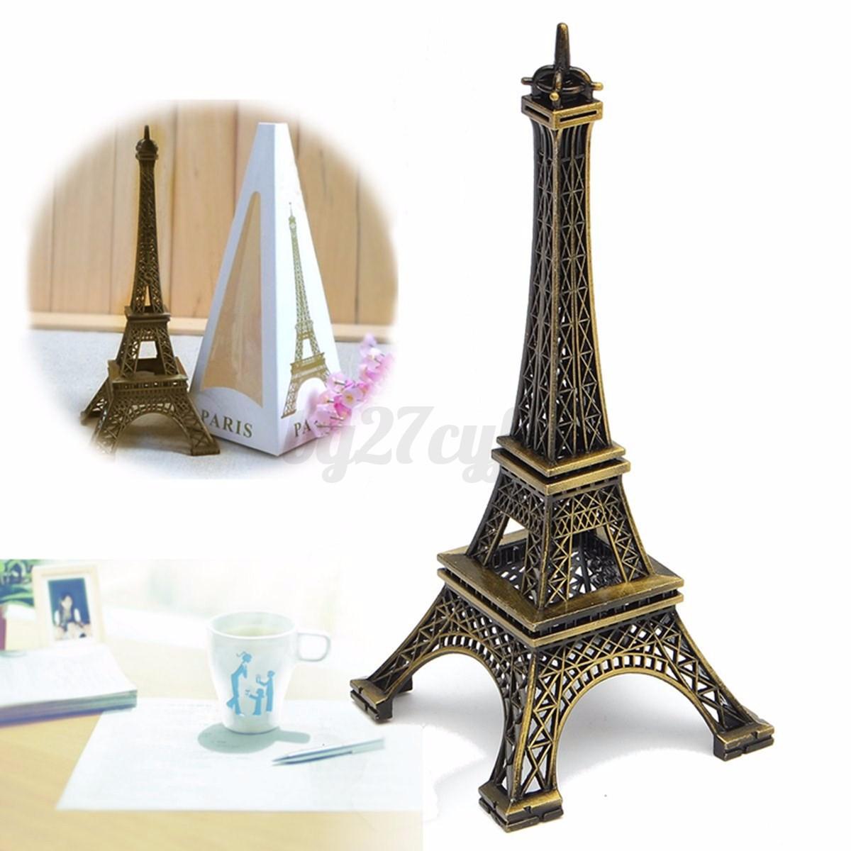 15cm metal bronze tone paris eiffel tower figurine statue for Statue decorative d interieur
