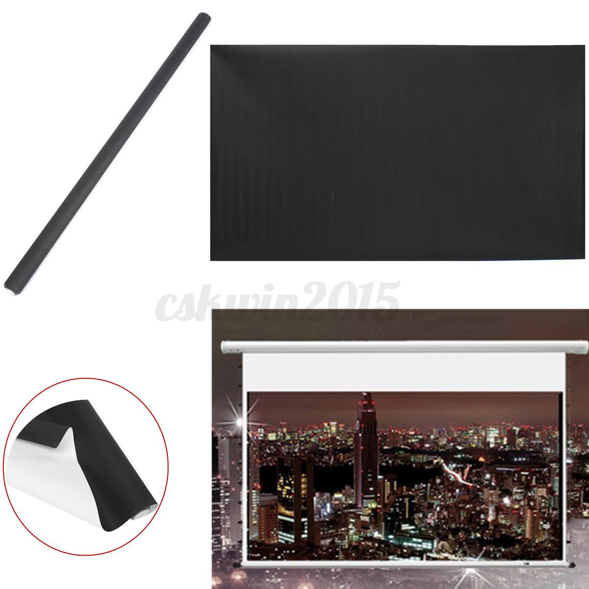 100 16 9 hd projektor bildschirm leinwand beamer beamerleinwand rollleinwand ebay. Black Bedroom Furniture Sets. Home Design Ideas