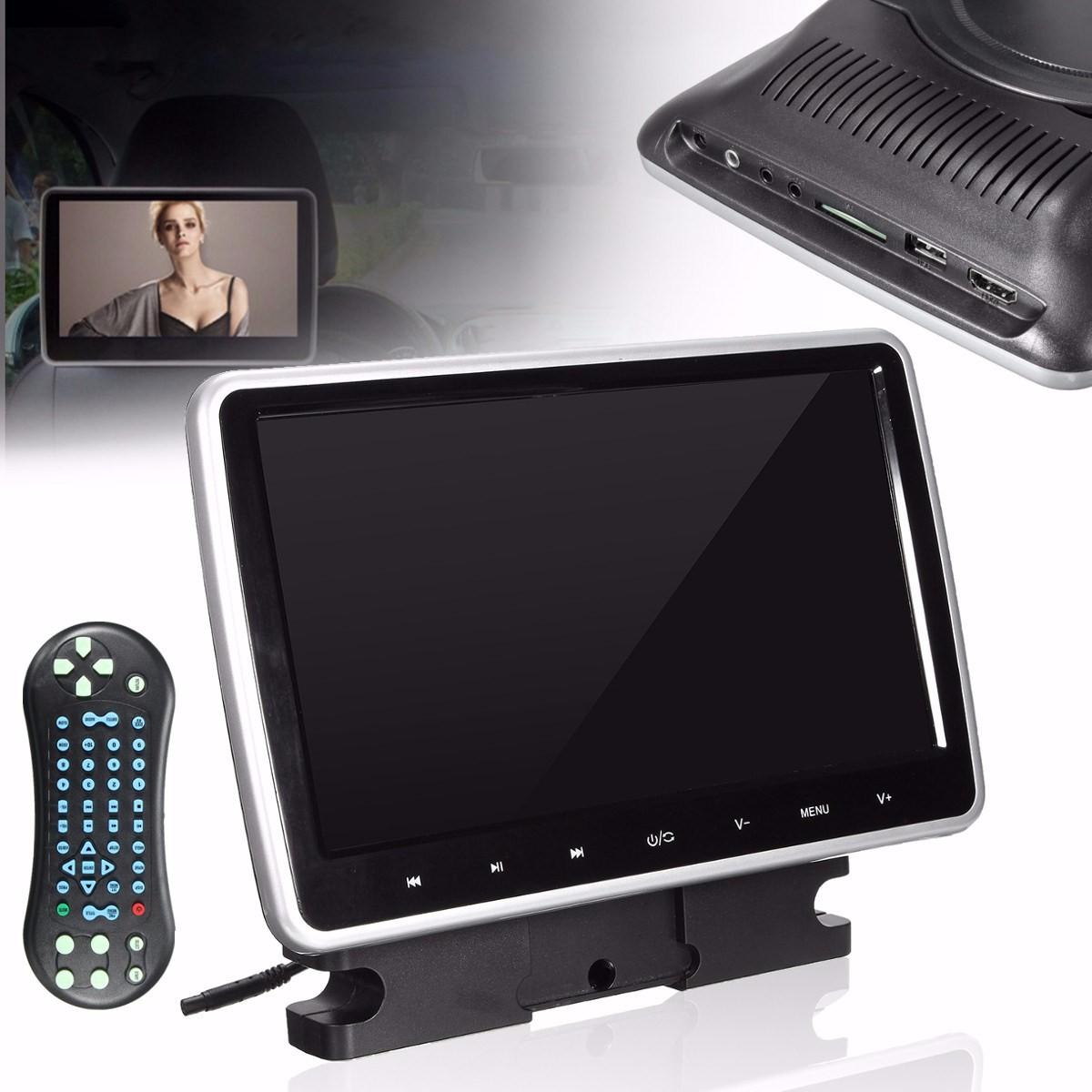 10 zoll auto kopfst tze monitor tragbar dvd player hd lcd. Black Bedroom Furniture Sets. Home Design Ideas