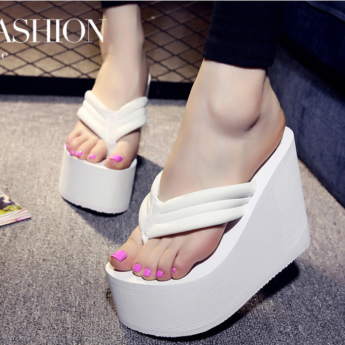 Womens Flip-Flops  Ladies Platform Summer Sandals Thong Slippers Wedge Beach Shoes