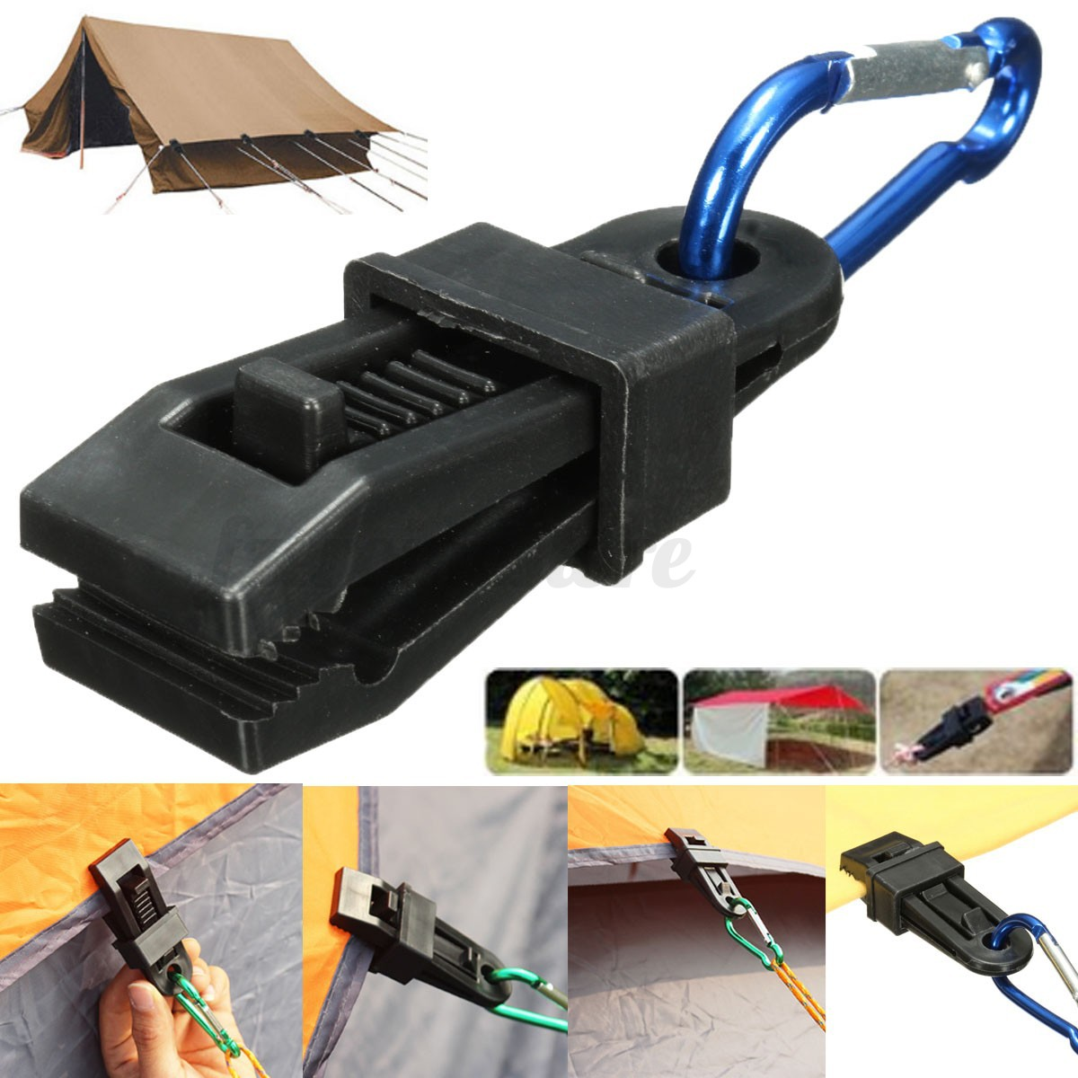 Heavy Duty Tarpaulin Clip Instant Slip Clamps For Tent Camp Boat