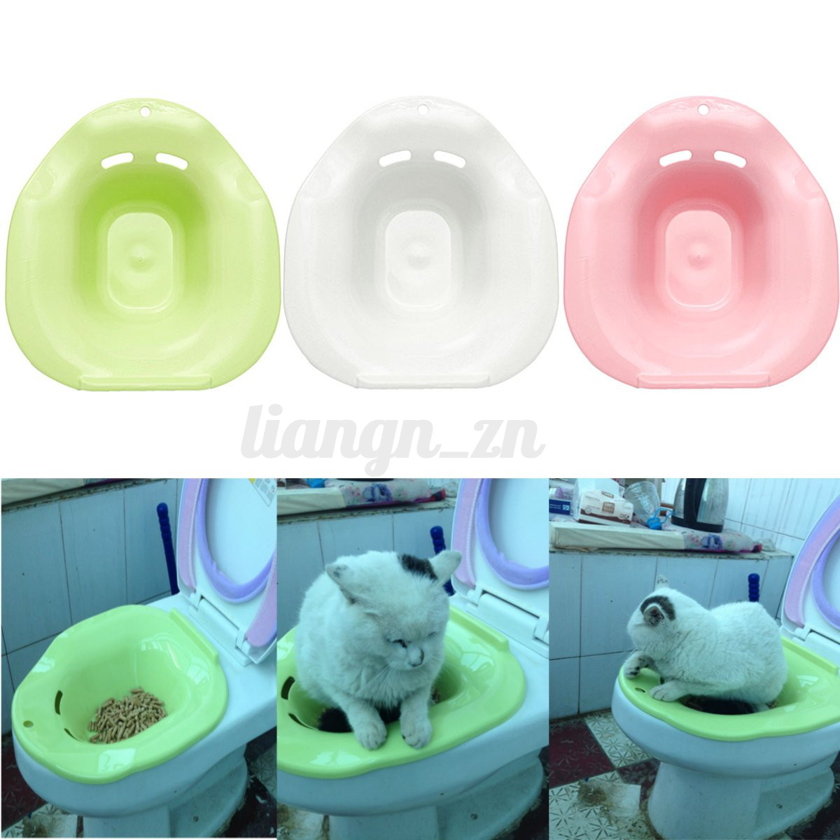 bac liti re pour chat chaton maison de toilette wc tamis de nettoyage filtre ebay. Black Bedroom Furniture Sets. Home Design Ideas