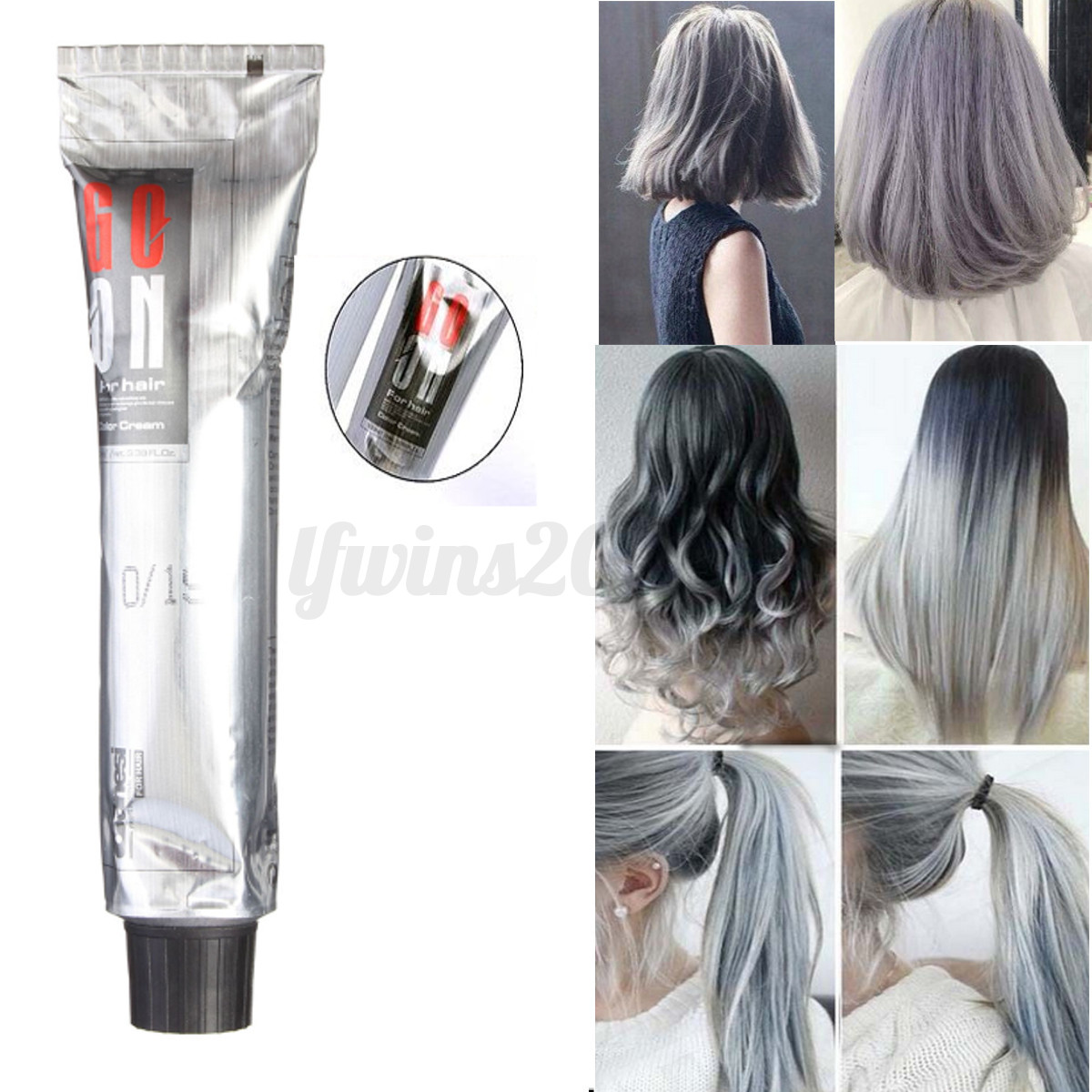 couleur blanc gris argent cr me coloration cheveux teinture permanent outil kit ebay. Black Bedroom Furniture Sets. Home Design Ideas