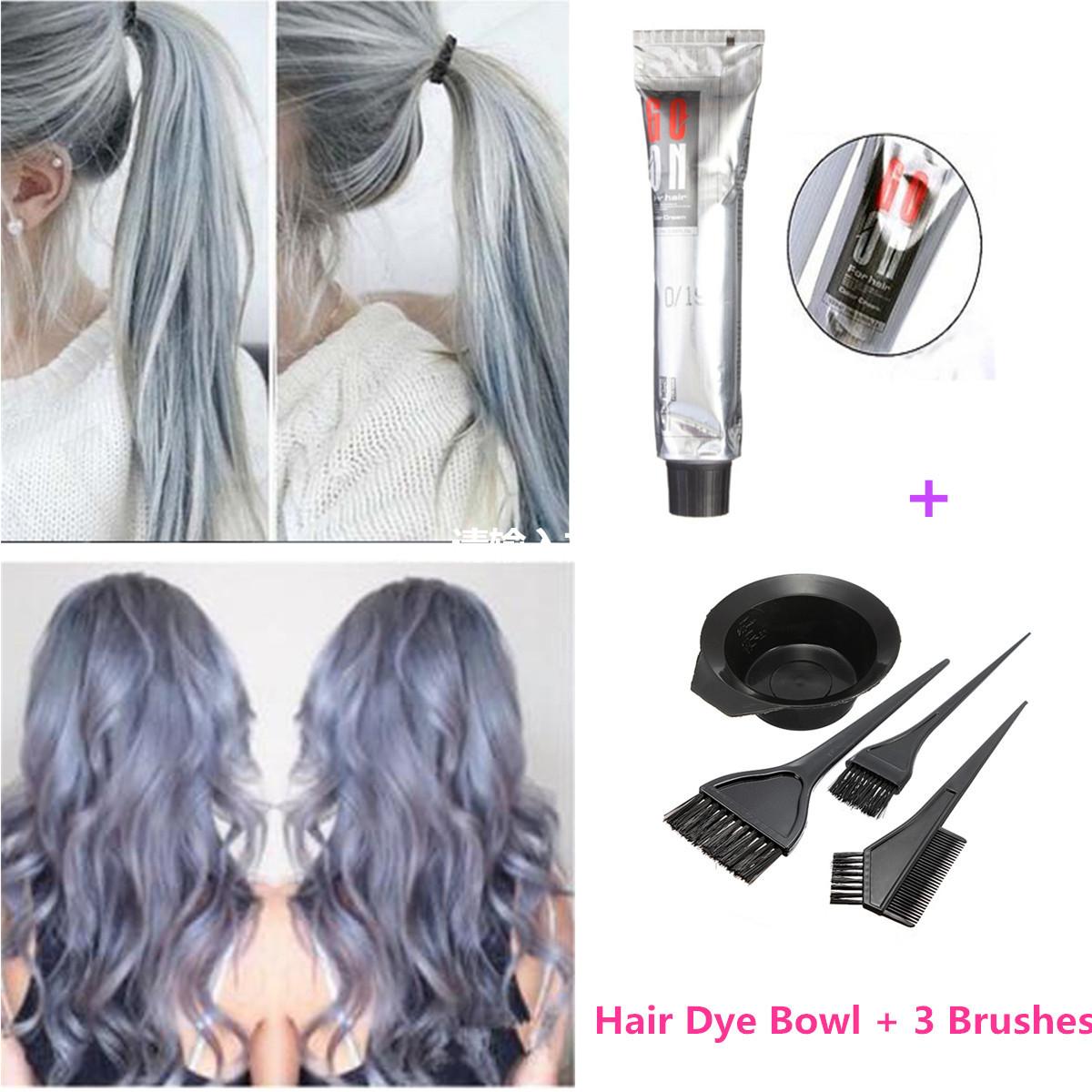 Grannyhair Light Gray Color Hair Permanent Dye Cream 100ml Hair