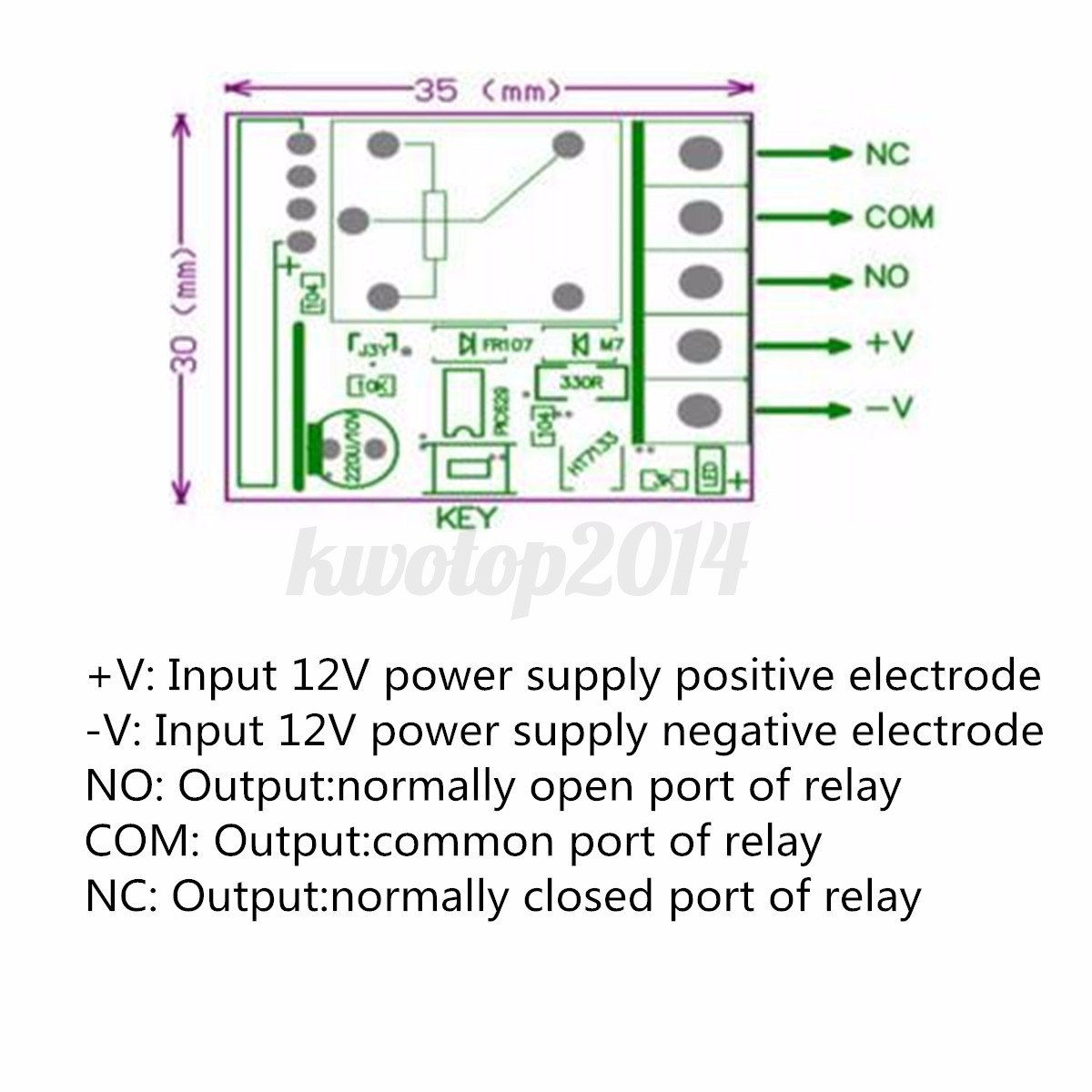 Dc 12v 10a Relay 1ch Wireless Rf Remote Control Switch Transmitter Circuit