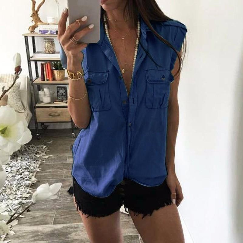 2017-Women-Sleeveless-V-neck-Vest-Demin-Jean-Look-Casual-Tops-Blouse-T-shirt-Tee