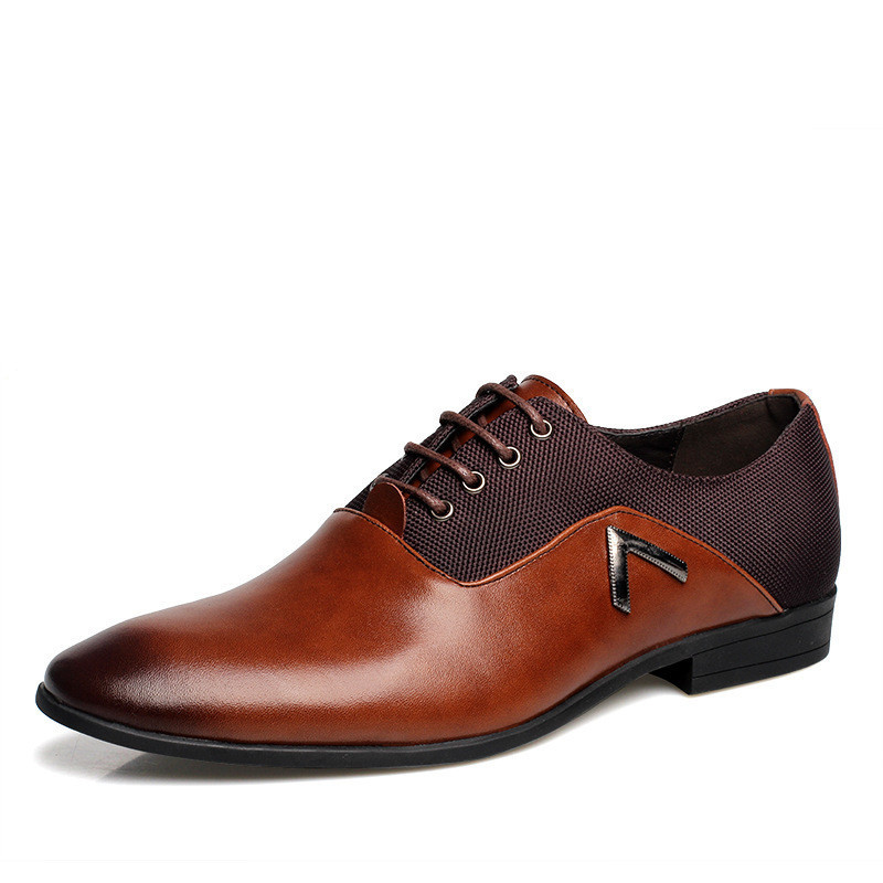 Yjp 2018 Men Pointy Toe Business Dress Formal Leather Shoes Flat