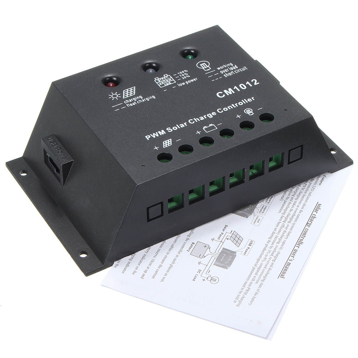 12 24v Lcd Solar Charge Controller Battery Regulator Backlight 10a Charger With Overcharge Protection Electronic