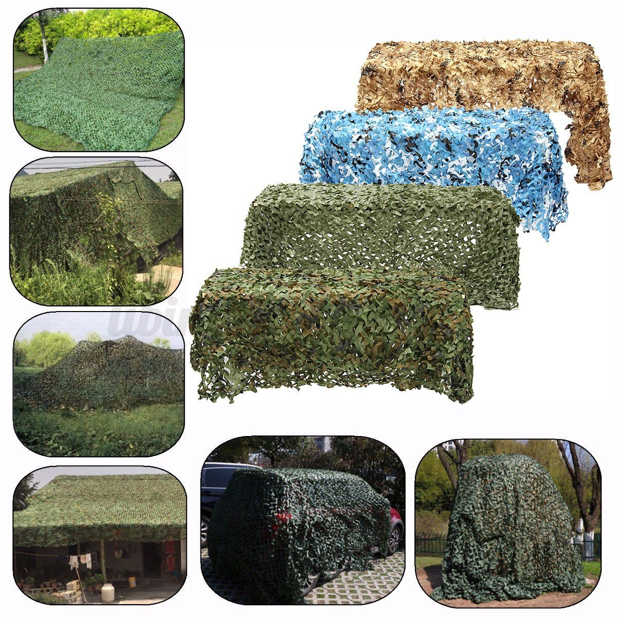 tarnnetz 4 x 2m camouflage net sichtschutz sonnenschutz f r outdoor garten party ebay. Black Bedroom Furniture Sets. Home Design Ideas