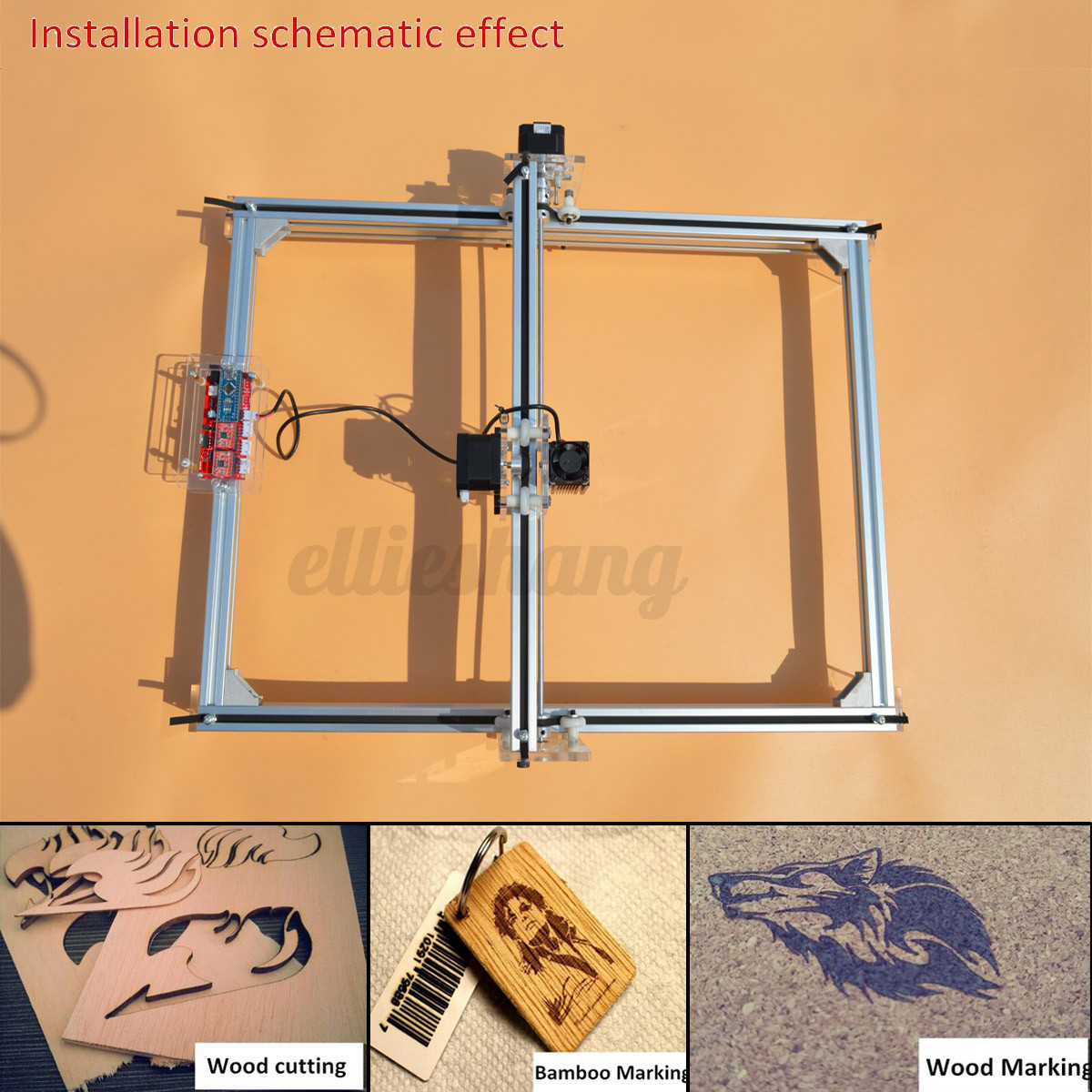 500mw mini laser engraving machine logo cutting marking wood printer 40x50cm diy ebay. Black Bedroom Furniture Sets. Home Design Ideas