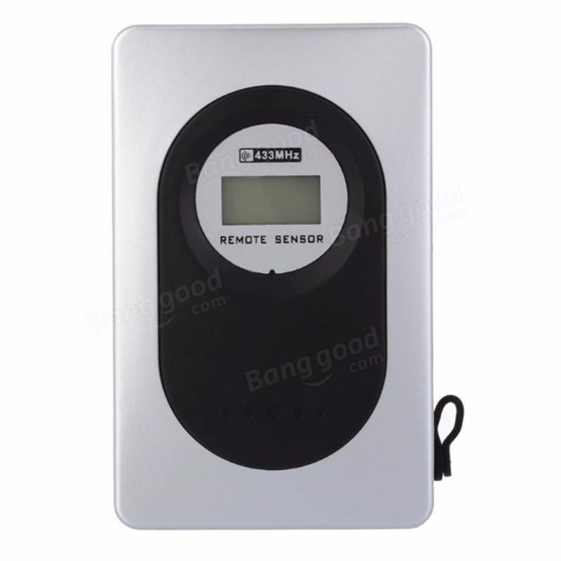 Lcd int rieur ext rieur sans fil station m t o horloge for Thermometre exterieur wifi