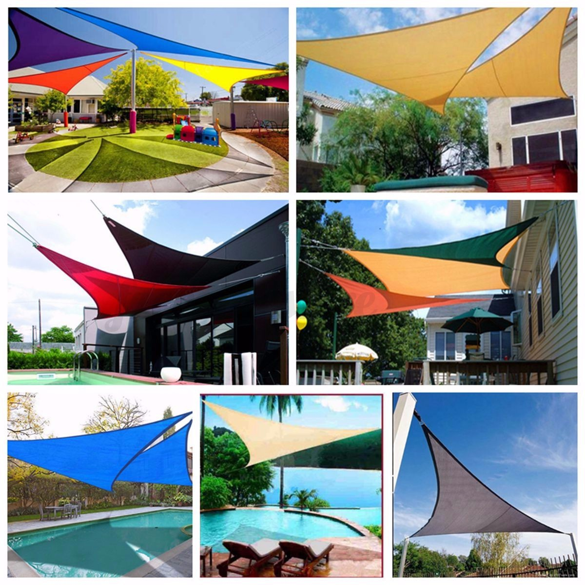 Sun Shade Sail Garden Patio Sunscreen Awning Canopy Screen ...