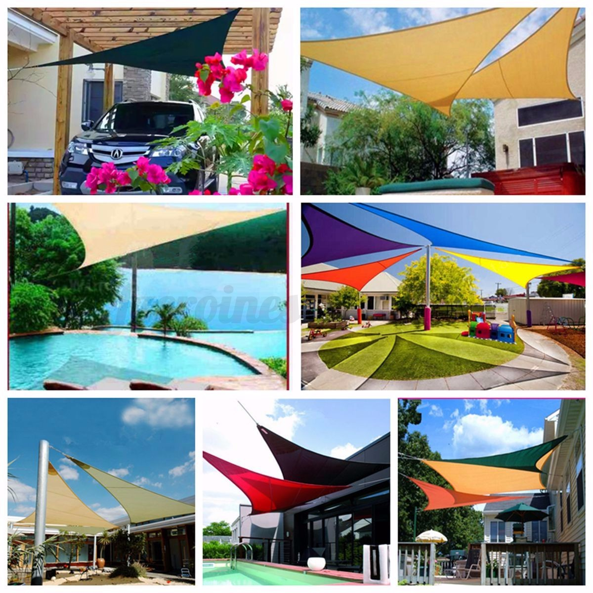 Sun Shade Sail Garden Patio Sunscreen Awning Canopy Screen