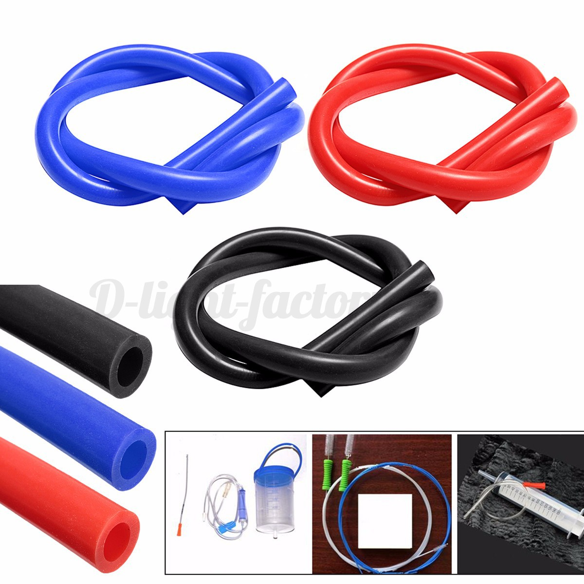 10mm 25mm Id Silicone Vacuum Hoses Rubber Pipe Tube Vac Air Water Coolant Image Is Loading I D