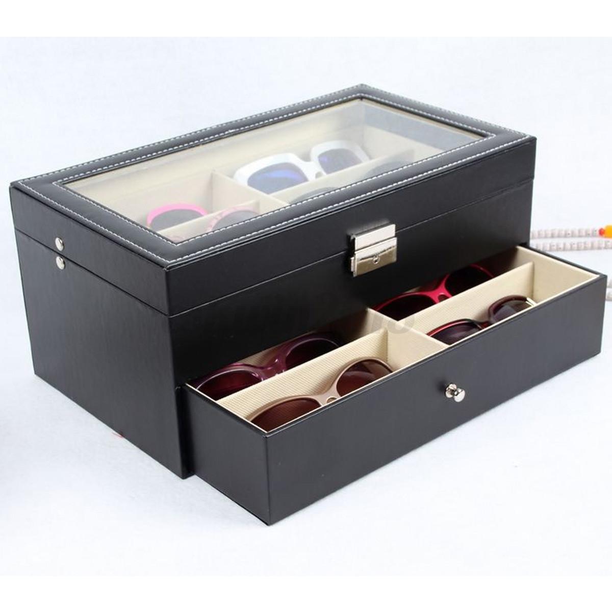 12 Slot Black Oversized Eyeglass Sunglass Glasses