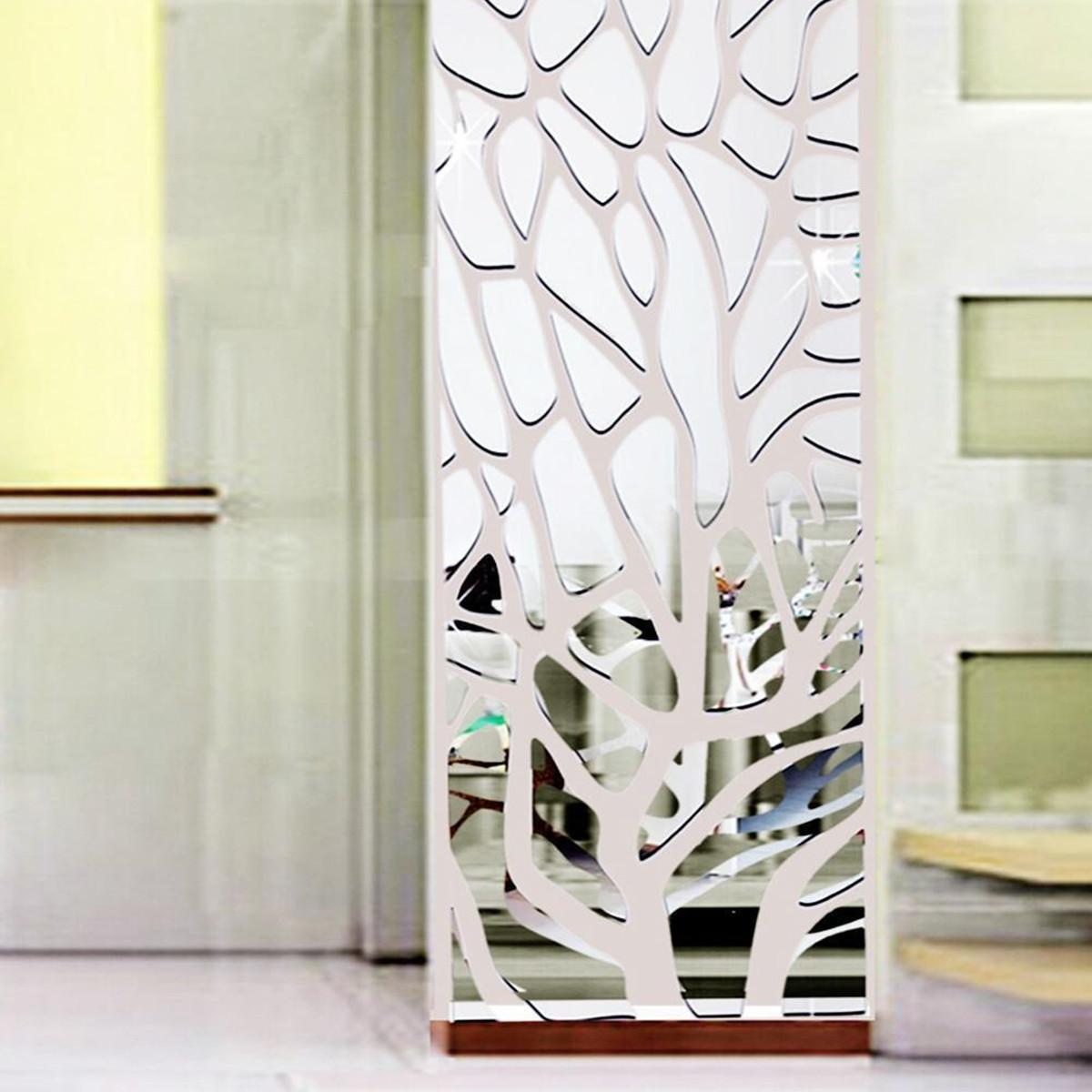 3d Acrylic Modern Mirror Decal Art Mural Wall Sticker Home Decor Diy Uk D2 Ebay
