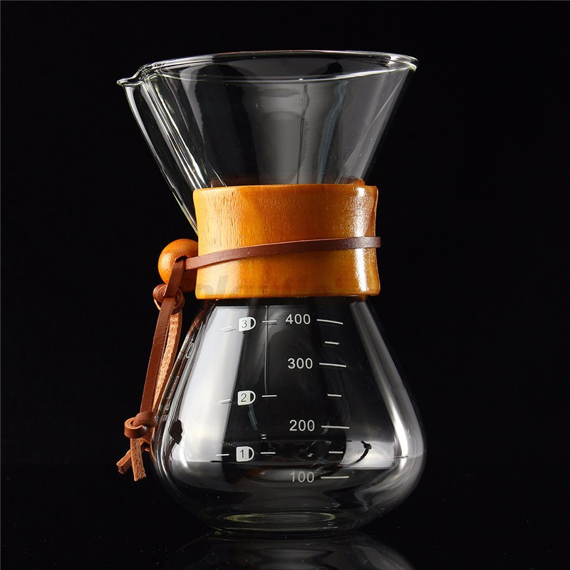 Chemex Glass Coffee Maker Brew Pot 400ml/3 Cup + Stainless Steel Filter Dripper eBay
