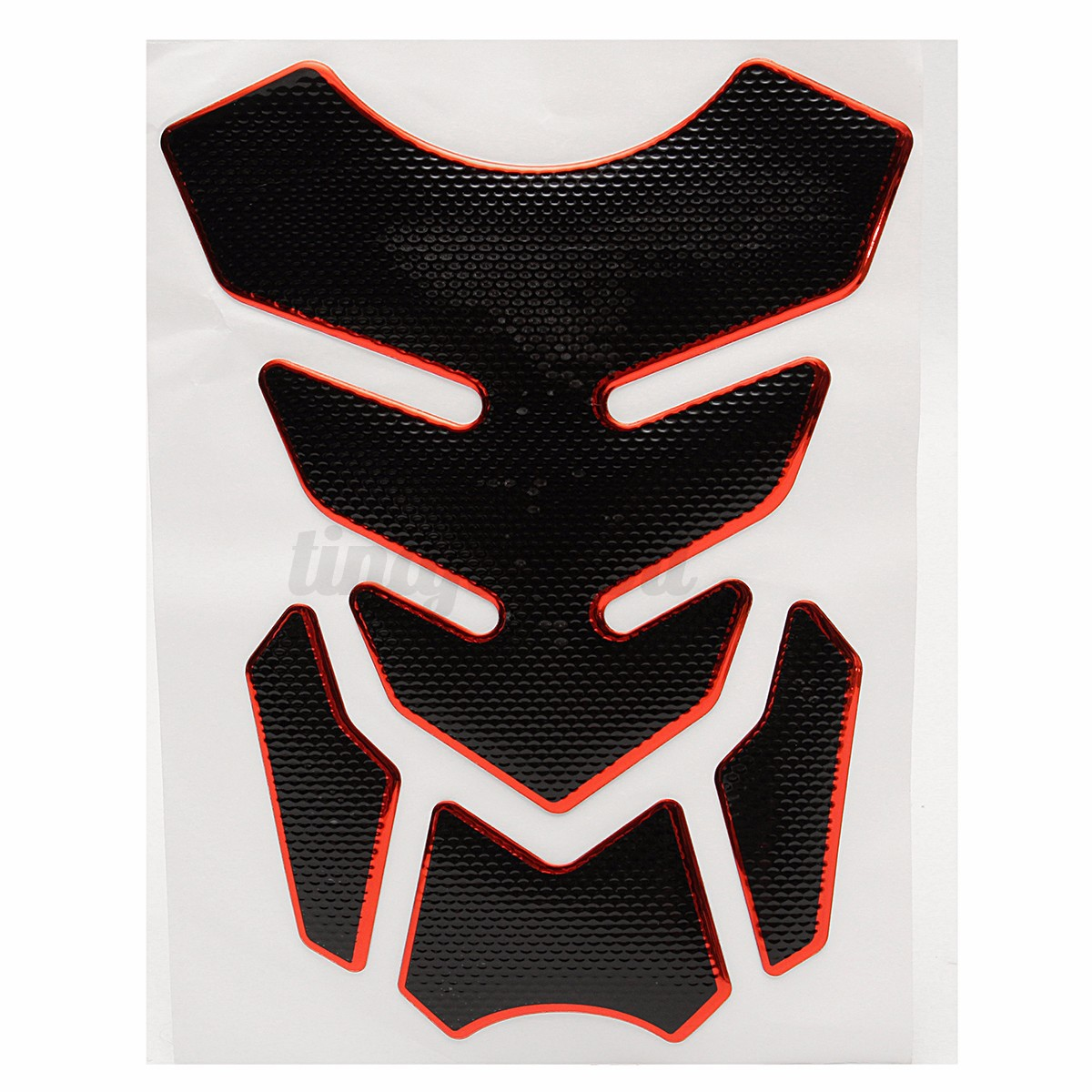 Red Decal Universal Motorcycle 3D Rubber Sticker Gas Fuel Oil Tank Pad Protector