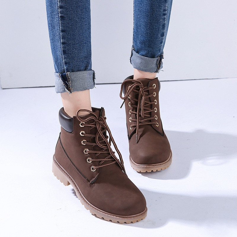 Details about Women\u0027s Winter Warm Snow Ankle Boots High Top Casual Hiking  Work Flat Shoes