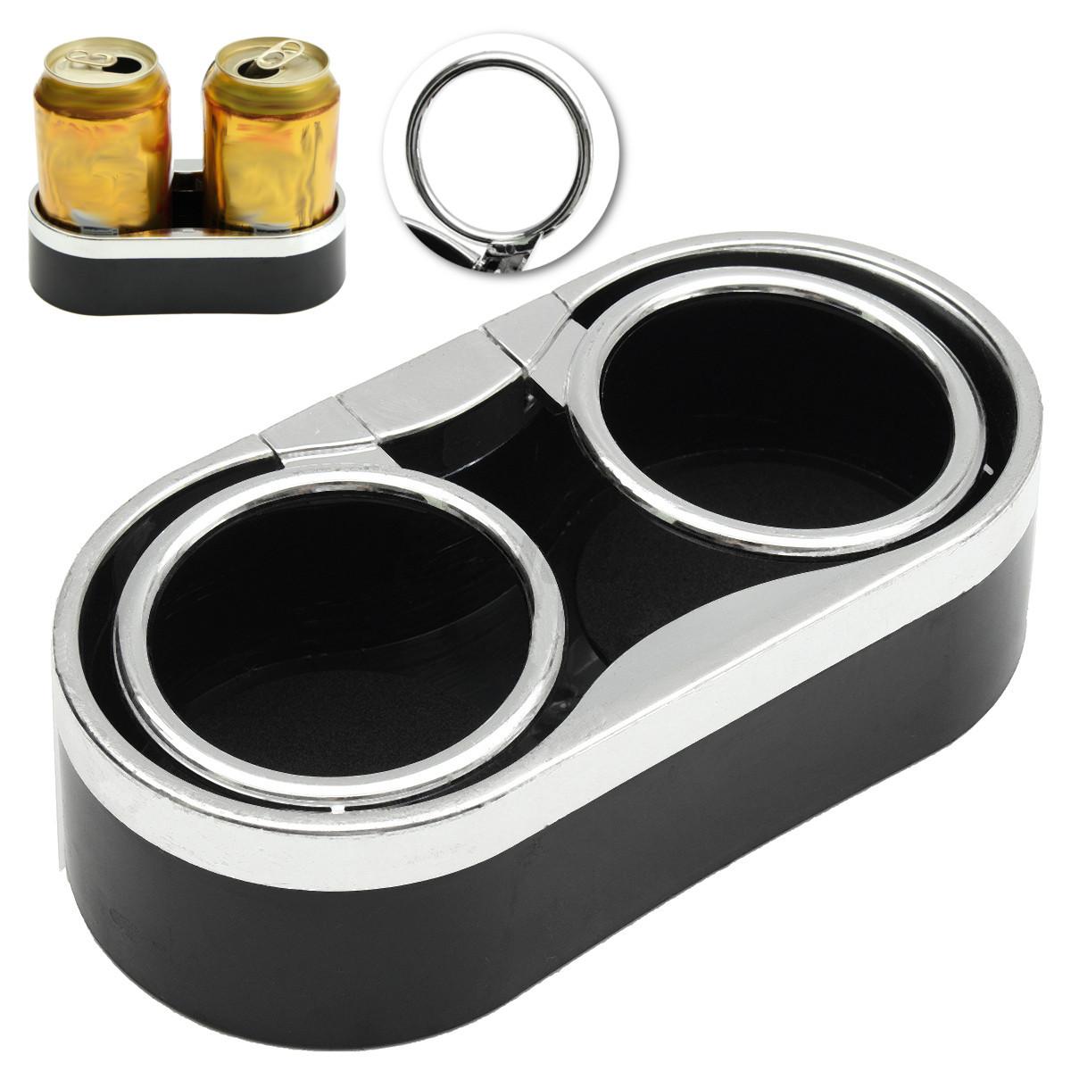 auto car truck adhesive mount dual cup holder drink bottle holder 2 top rings ebay. Black Bedroom Furniture Sets. Home Design Ideas