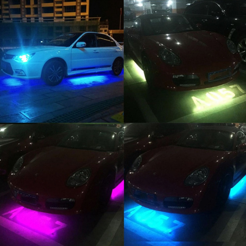 RGB LED Unterboden Beleuchtung Atmosphäre Neon Strip Licht App Musik Control