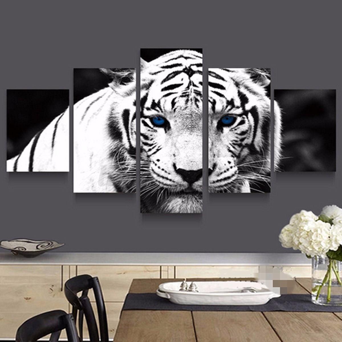 3-5-PCS-Modern-Landscape-Animals-Prints-Canvas-Art-Painting-Home-Wall-Decor-AU