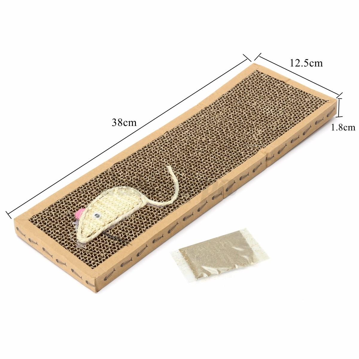 Pet cat scratching pad mat flat board bed scratcher post pole catnip play toy ebay - Cat bed scratcher ...