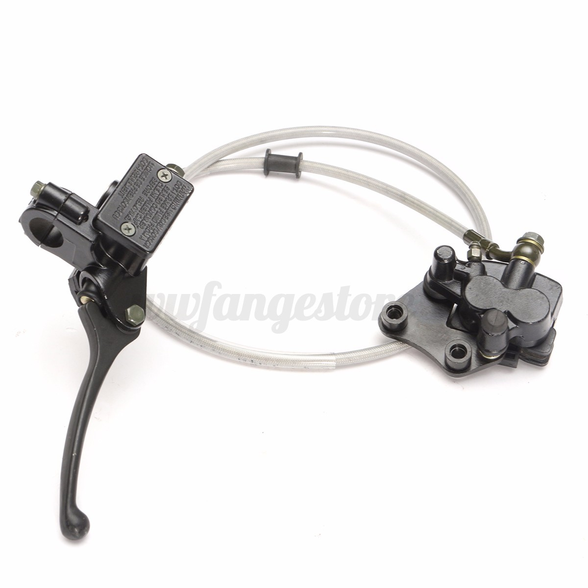 Pit Bike Front Brake Complete No Bleeding Ready To Use 110cc 120cc Wiring Loom Harness Kill Switch For 50cc 125 140 150 160cc Twin Piston Hydraulic Assembly Crf50 Sized Bikes