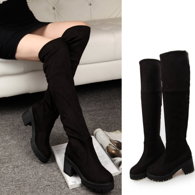 c019182492a Womens Winter Warm Over The Knee Long Boots Thigh High Casual Pull on Shoes